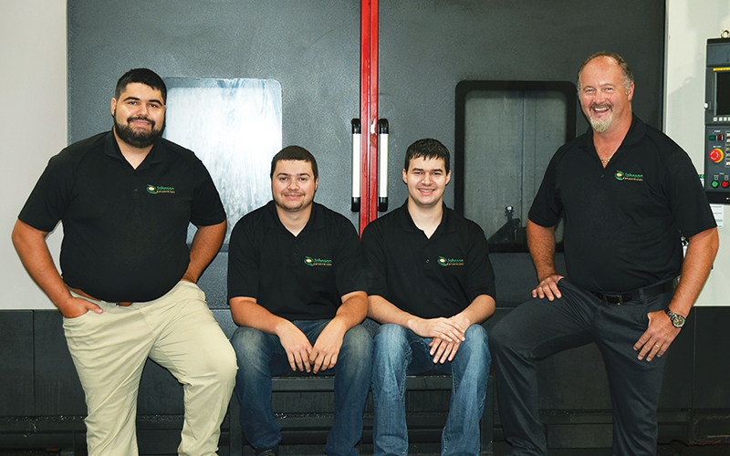 2nd and 3rd generation of the company (left to right): Mathieu Johnson, Maxime Johnson, Jesse Johnson and President Joey Johnson