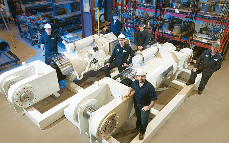 some of Maritime Hydraulic's highly-skilled employees