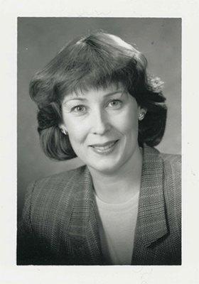Photo of Allison in 1989 during her time as Manager, Finance and Accounting